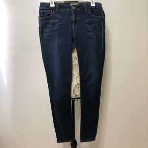 Cabi Dark Wash Skinny Jeans Style 492 Size 8